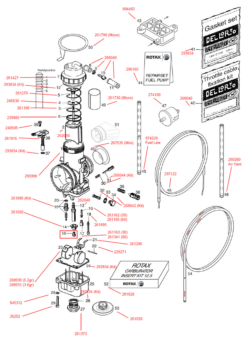 Carburetor, Fuel Pump, Fuel Line
