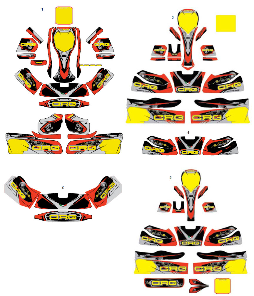 CRG, 2018 Sticker Kits