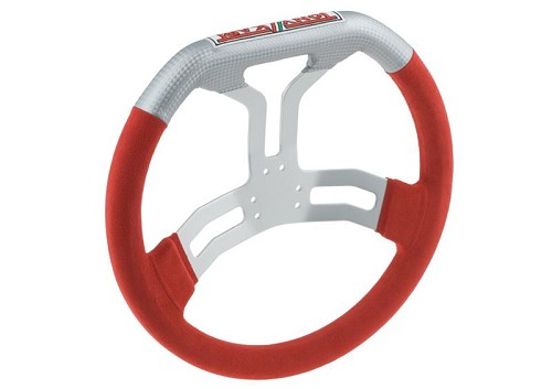 6 holes Tony Kart steering wheel in alkantara