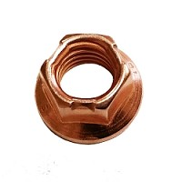 Copper Flanged 8mm Locking Wheel Nut