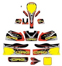 5. CRG Kid Kart Sticker Kit 2018