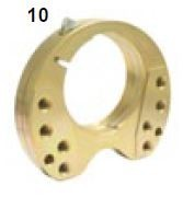 10. CRG, Bearing Flange 30 Mini Gold