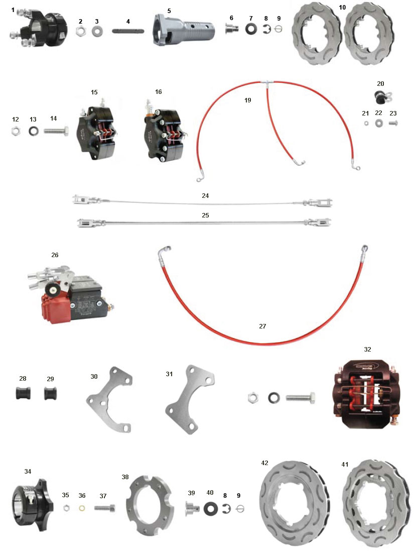 CRG, Ven09 Black Brake Components