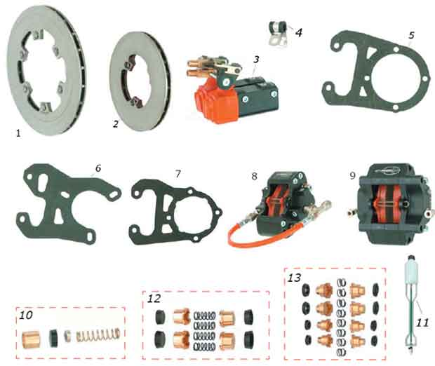 CRG, Ven99/V08 Brake Rotors and Parts