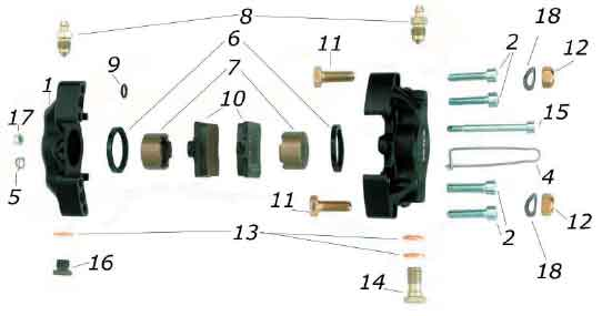 CRG, Cadet NewAge Rear Brake Caliper