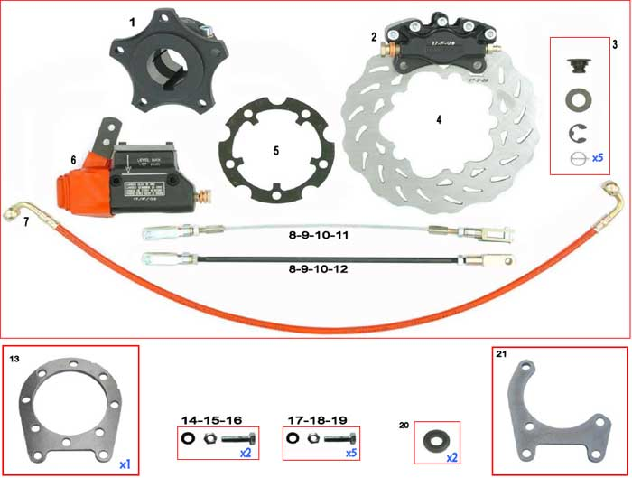 CRG, Cadet New Age-Mini Brake Rotor and Parts