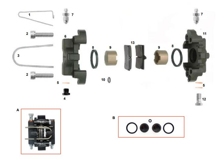 CRG, Mini D24 Rear Brake Caliper
