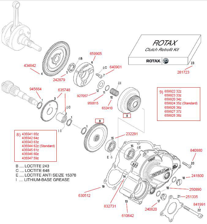 Updated Centrifugal Clutch, Balance Shaft Driver, Primary Drive