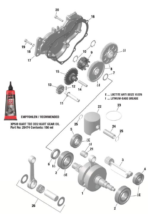 EVO Crankshaft, Piston, Balance Shaft