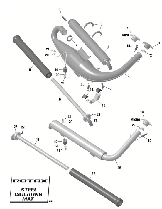 Rotax EVO Exhaust System