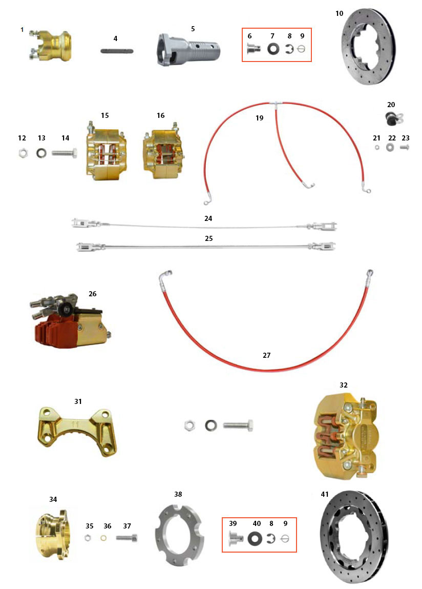 CRG, Ven11 Gold Brake Components