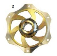 2. CRG Sprocket Carrier 25mm Gold