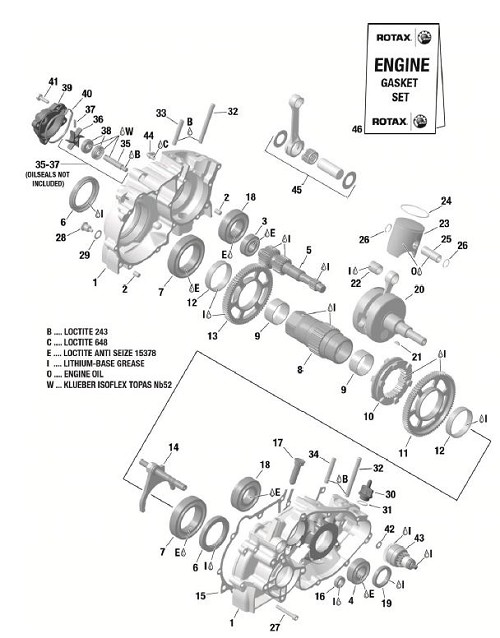 Starter Reduction Gear Assembly