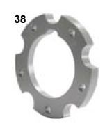 38. CRG, Rear Brake Disc Flange
