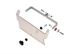 Complete air bulkhead kit for radiator 400 x 200 mm