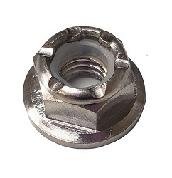Titanium Flanged Nylock Nut M6