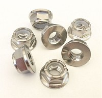 Titanium Flanged Nylock Nut M8