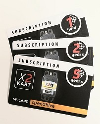 MyLaps Subscription Card for Kart X2 Transponder