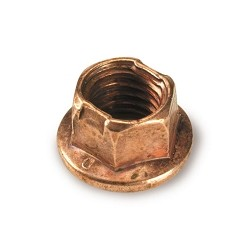 CIK Copper Flanged 8mm Locking Wheel Nut