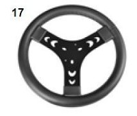 17. CRG Puffo Steering Wheel