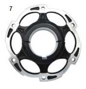 7. CRG Sprocket Carrier 50mm Forged