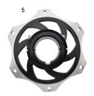 5. CRG Sprocket Carrier 40mm Black