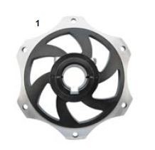 1. CRG Sprocket Carrier 25mm Black