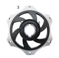 3. CRG Sprocket Carrier 30mm Black