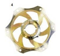 4. CRG Sprocket Carrier 30mm Gold