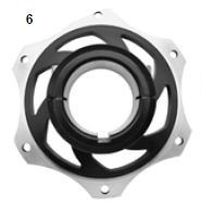 6. CRG Sprocket Carrier 50mm Black