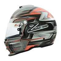 Zamp RZ-44CE Orange Honeycomb Helmet